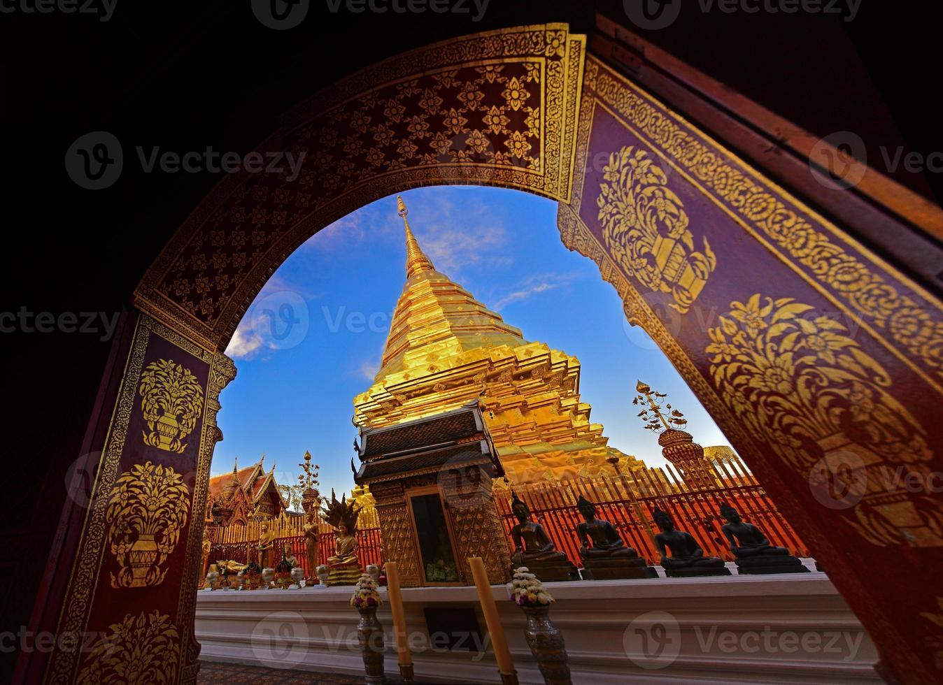doi suthep tempel, Chiangmai, Thailand foto