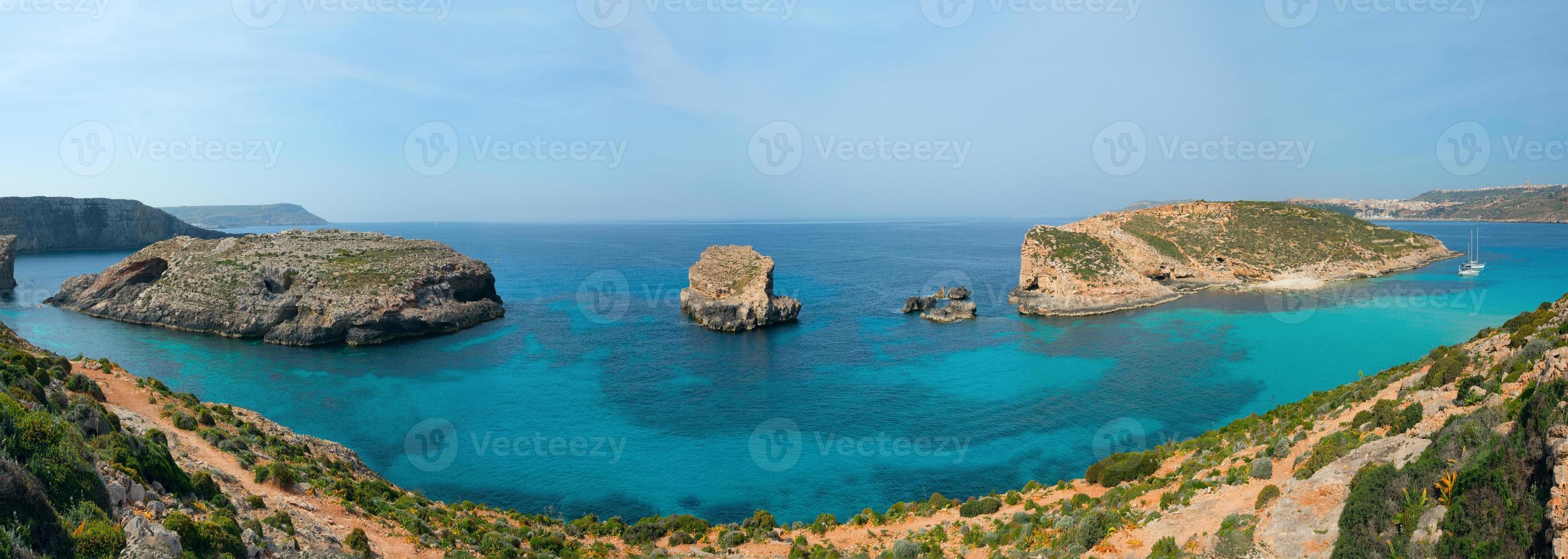 blå lagun comino ö malta gozo foto