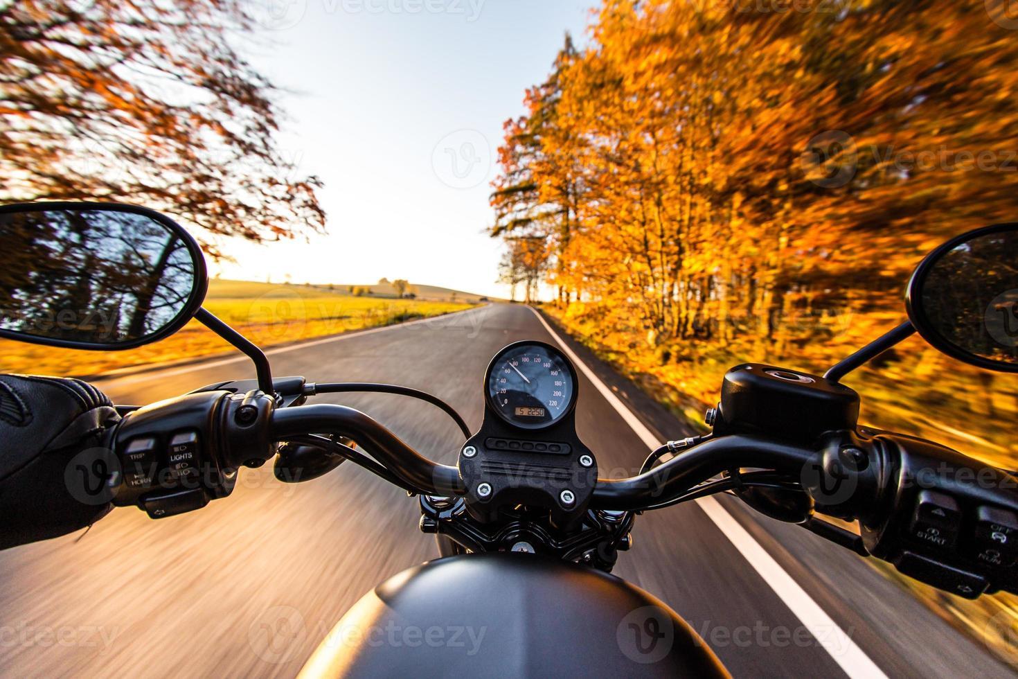 utsikten över motorcykelstyret foto
