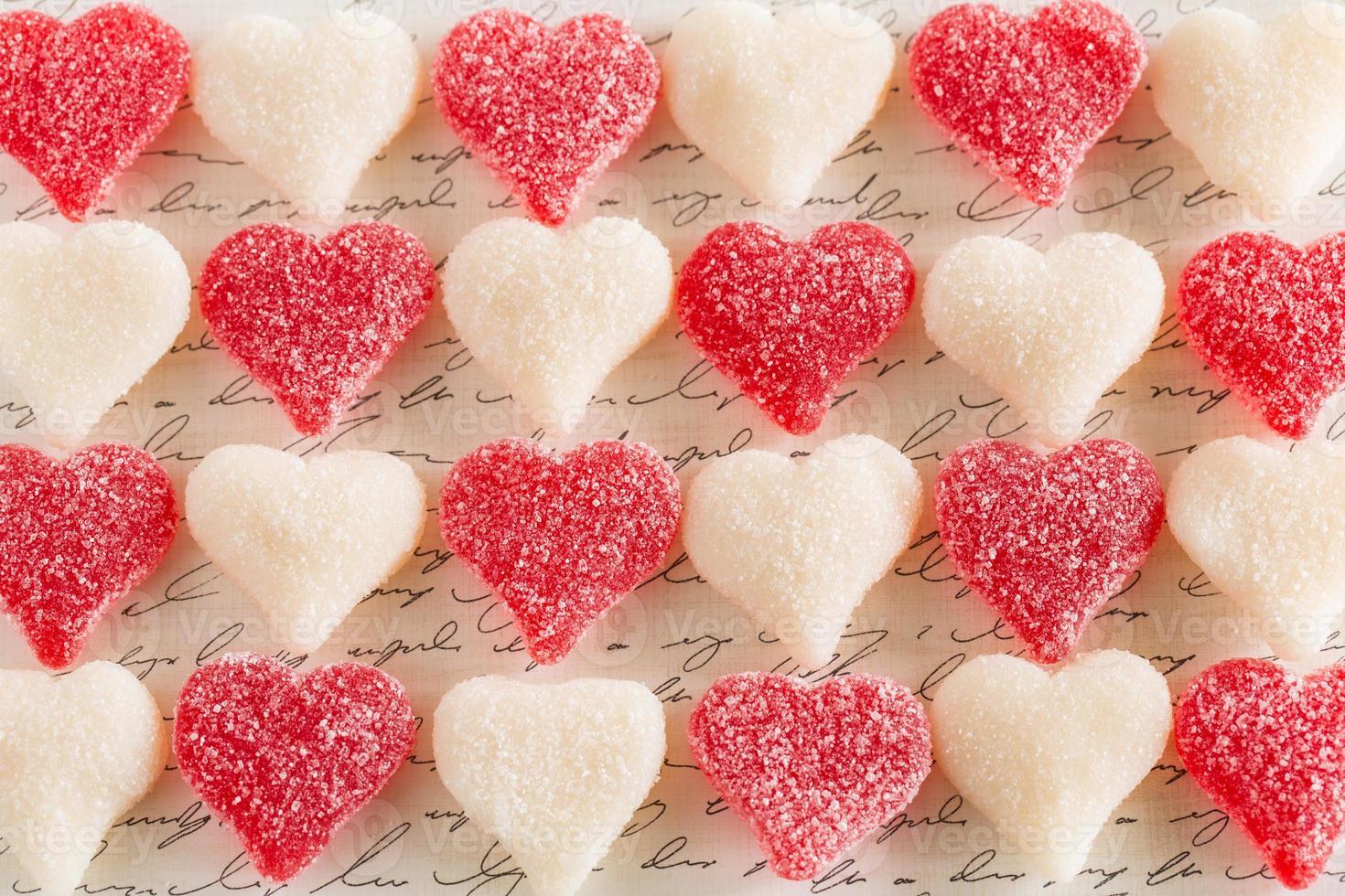 alla hjärtans dag gummy kärlek hjärta godis dessert mat foto