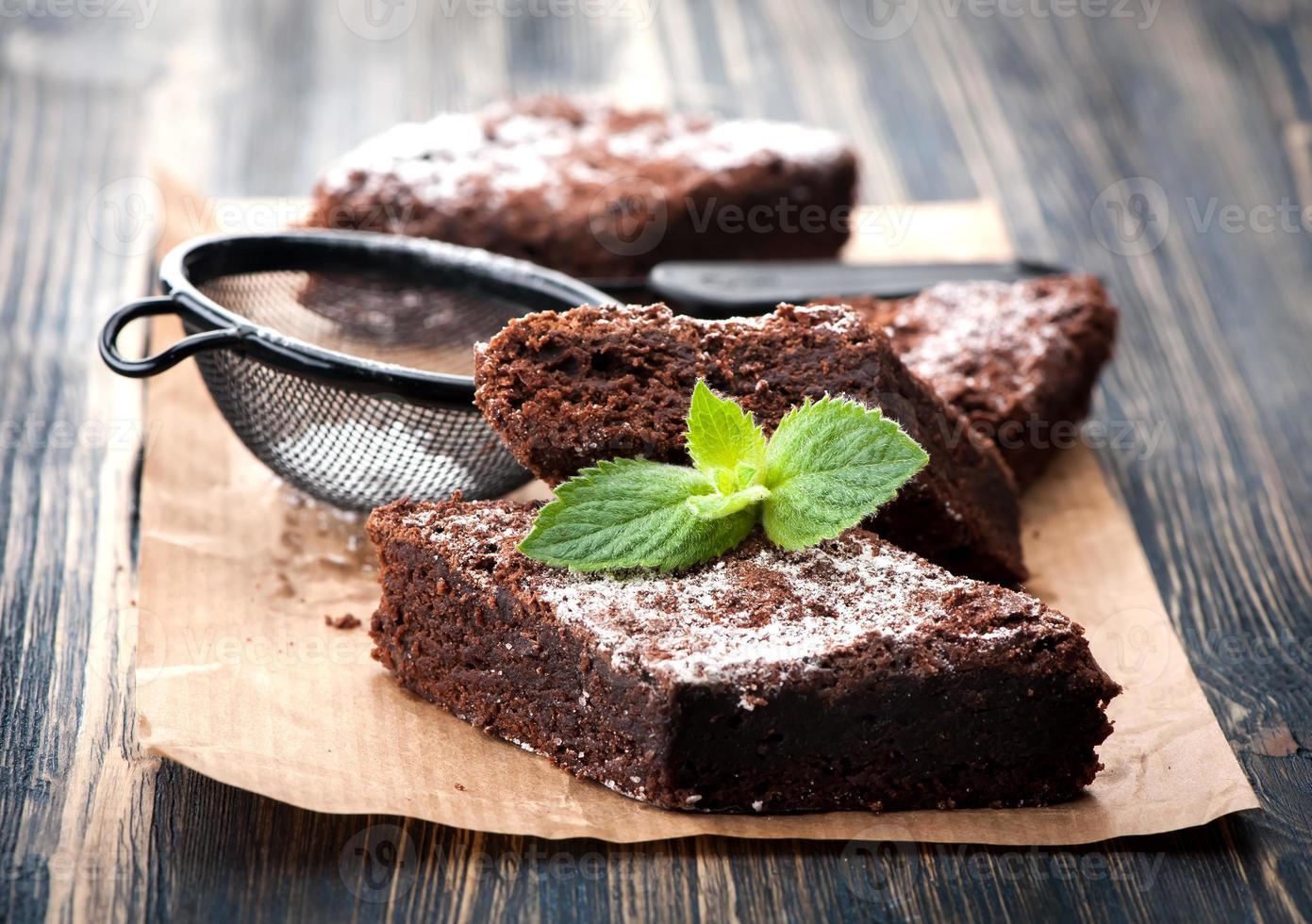 tårta choklad brownies foto