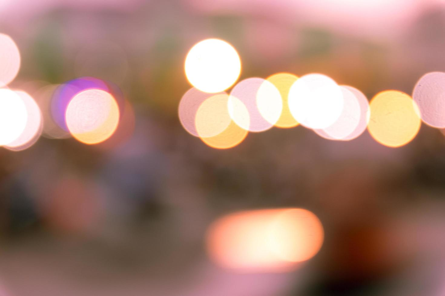 suddig bokeh ljus bakgrund foto