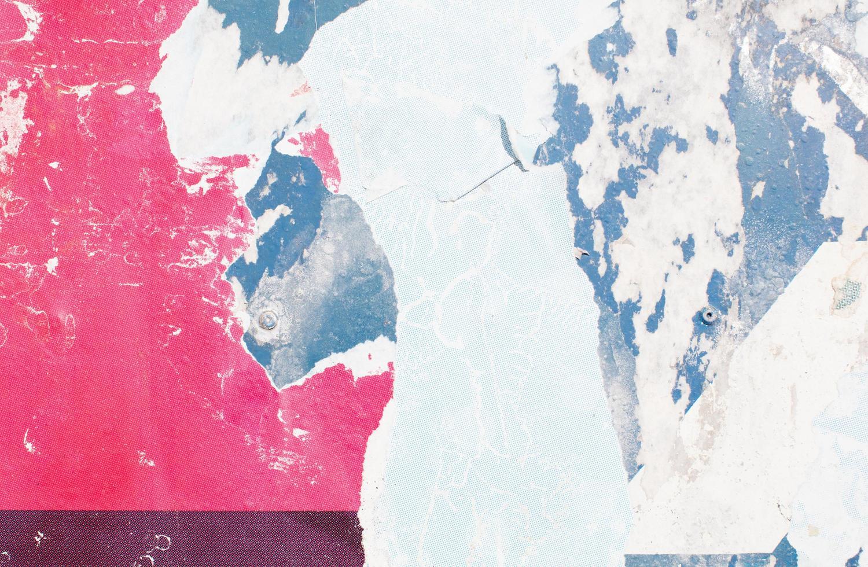 röd och blå abstrakt färgflis foto