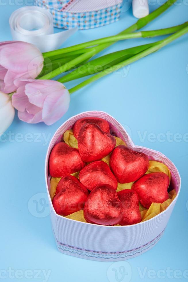 godis med blommor foto