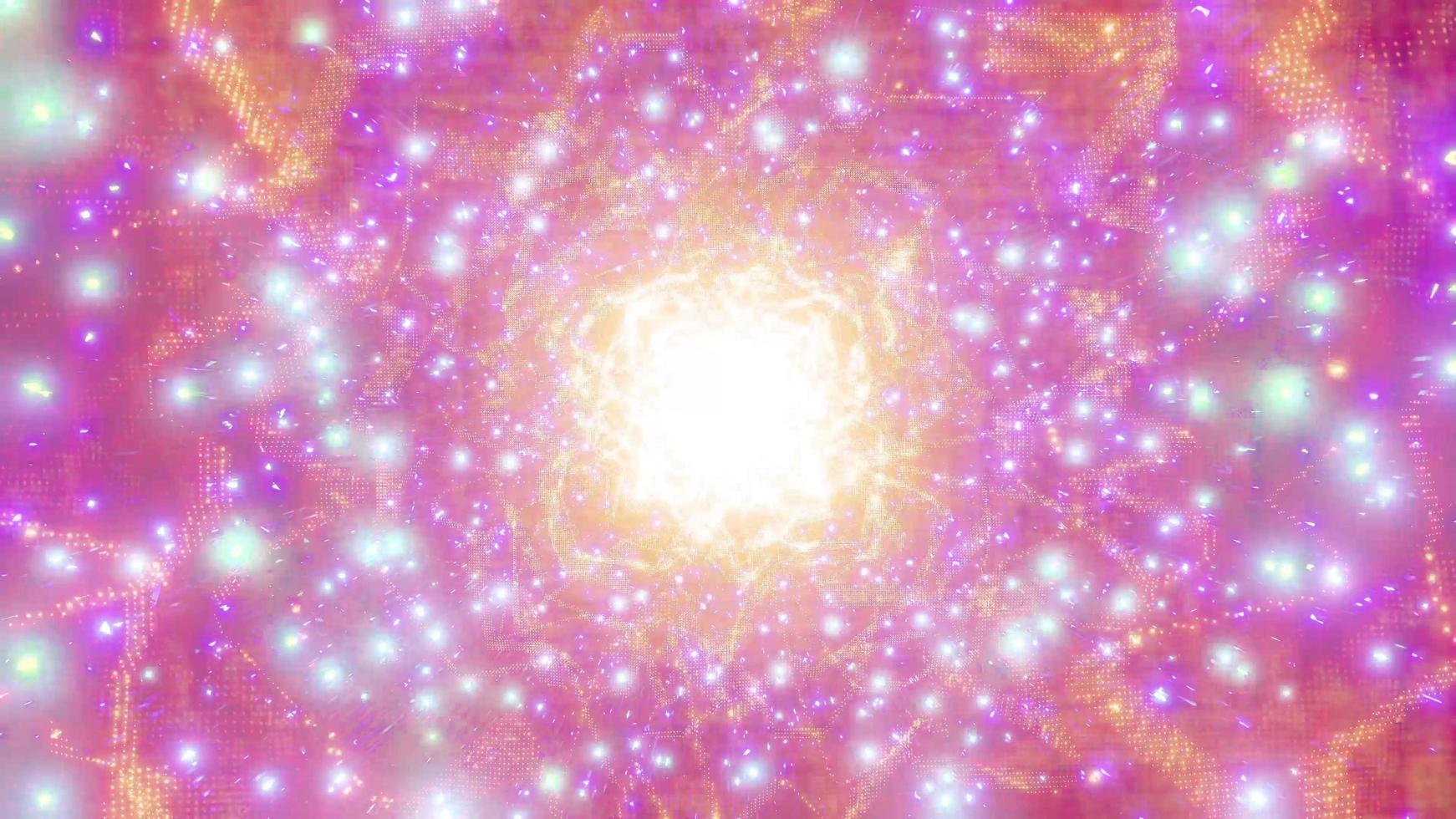 orange ljus glödande sci-fi rymdpartikel galax 3d illustration bakgrund tapet design konstverk foto