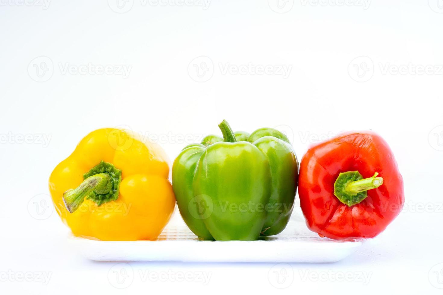 gulgrön och röd paprika foto