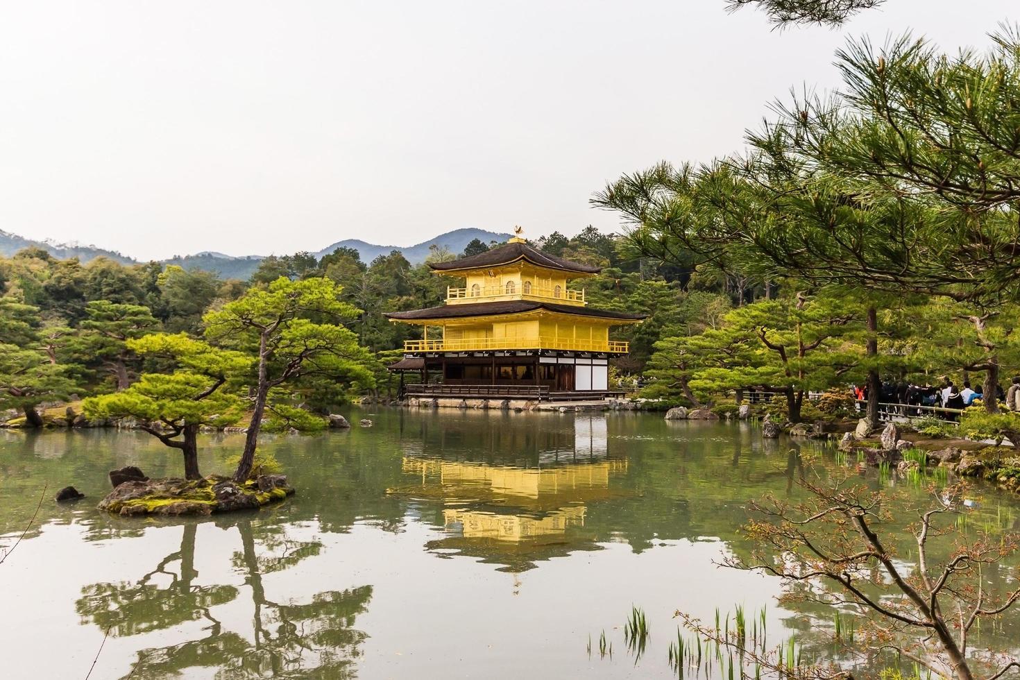 Kinkakuji-templet i Kyoto, Japan foto