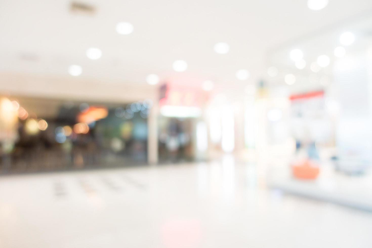abstrakt suddighet köpcentrum bakgrund foto