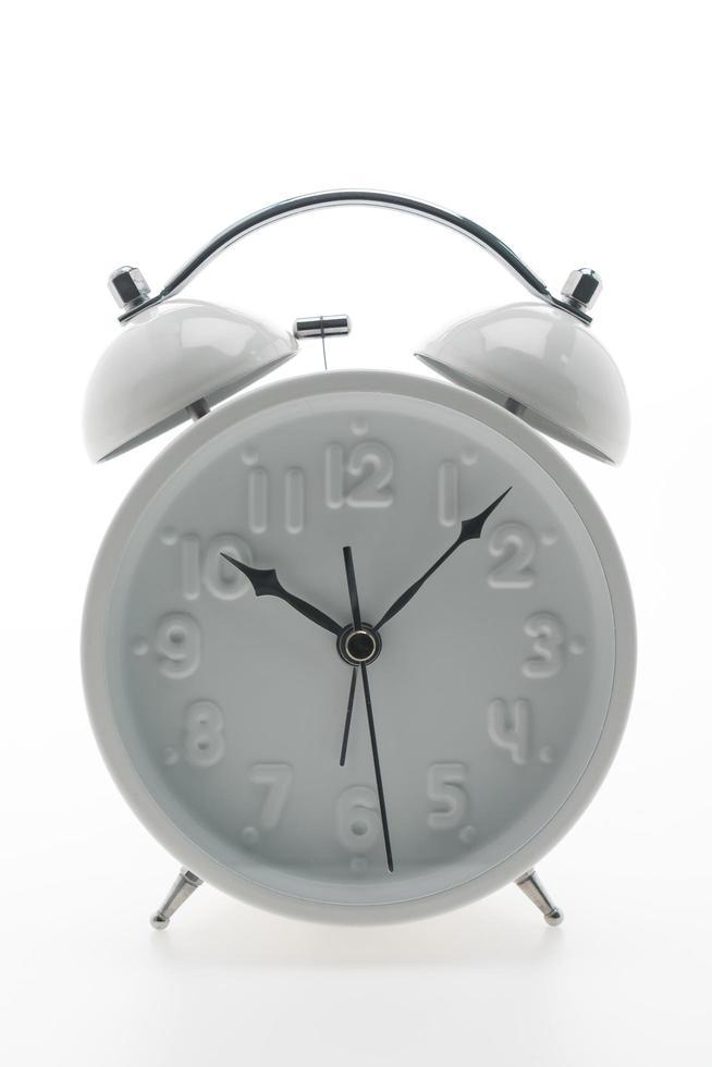 vit väckarklocka foto