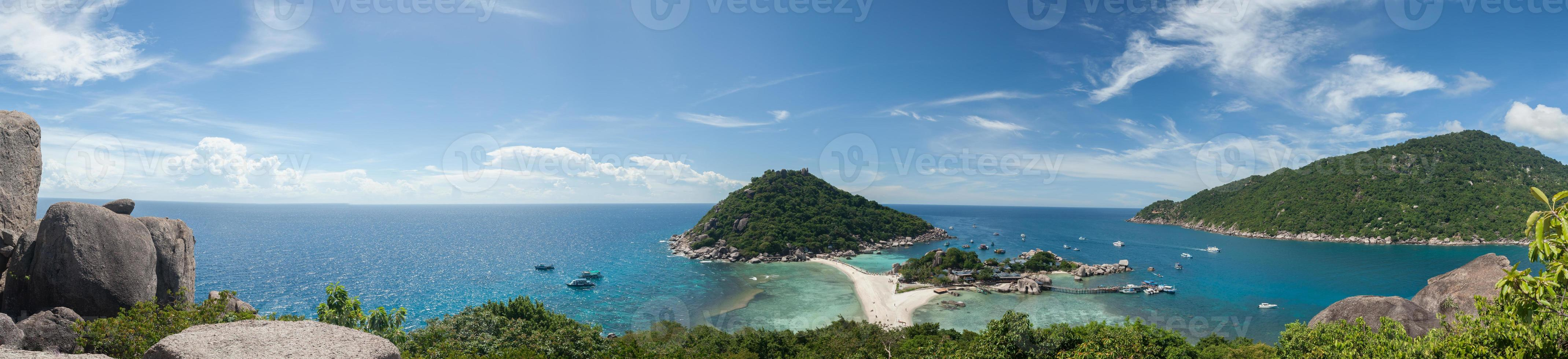 panorama över en strand foto