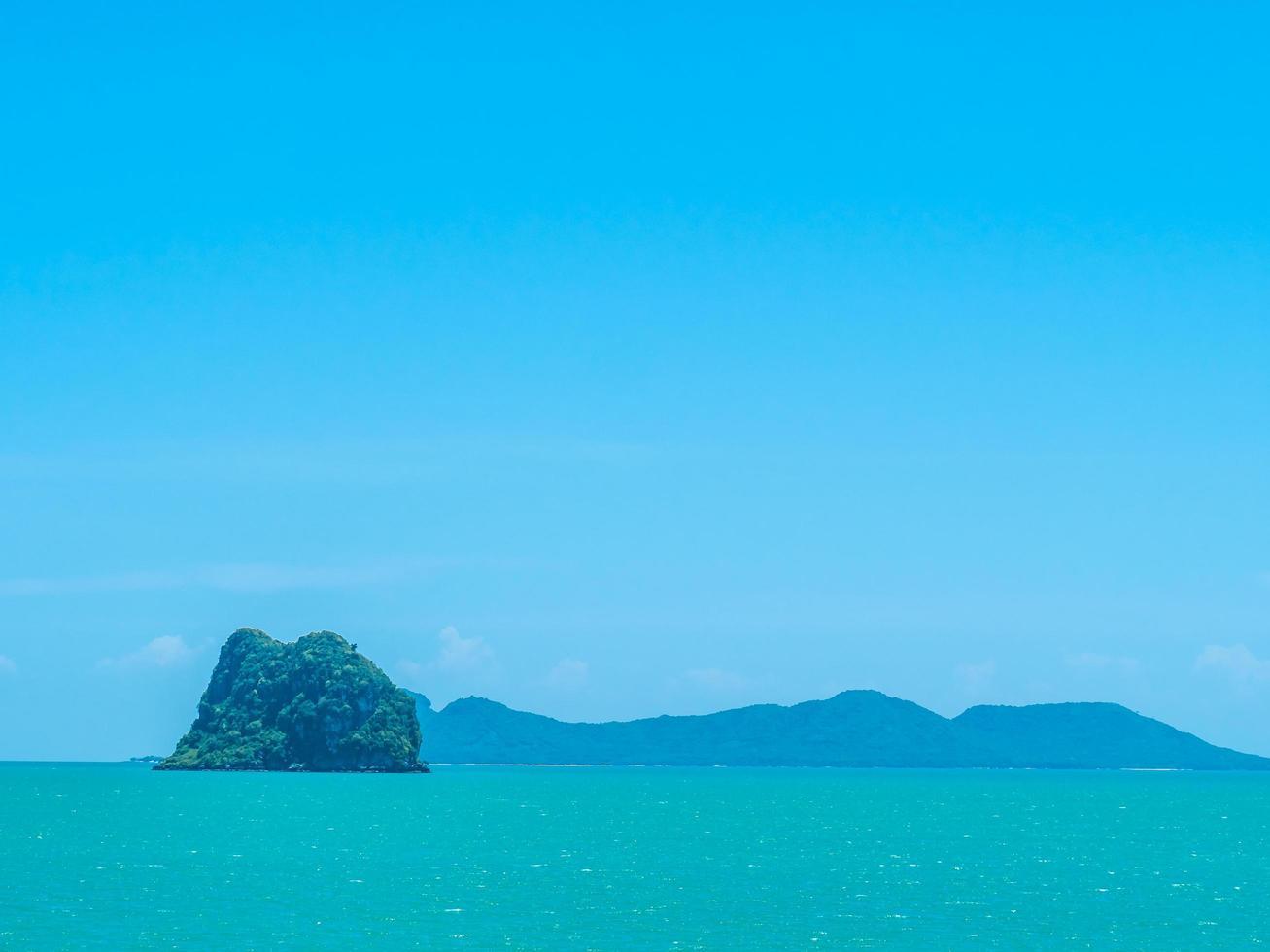 vackra tropiska havet foto