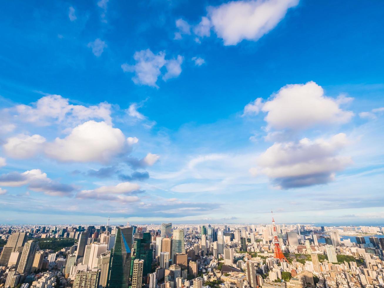 stadsbilden i Tokyo stad i Japan foto