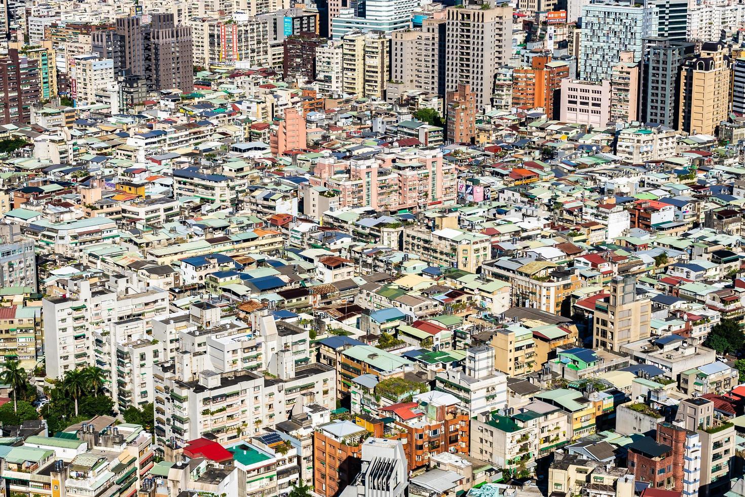 stadsbilden i Taipei stad i Taiwan foto