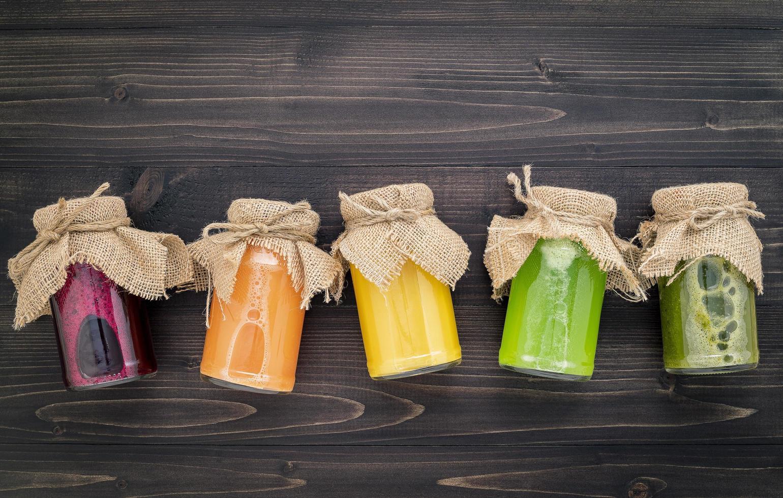 smoothies och juice foto