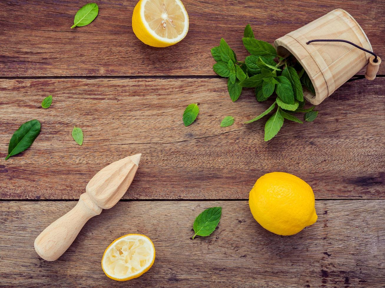 citron och mynta foto