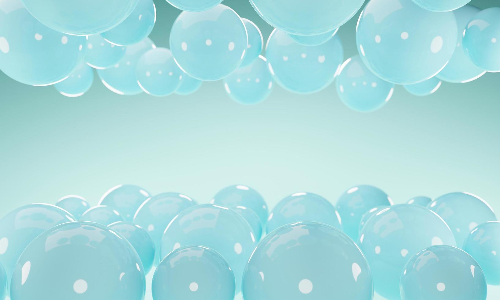 abstrakt bakgrund med sfärer för bollar 3d foto