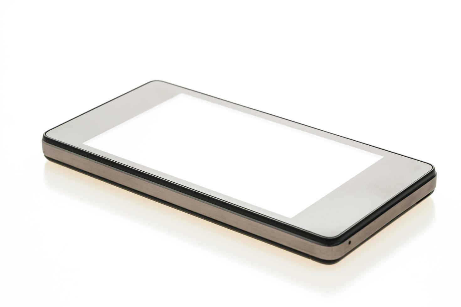 smartphone på vit bakgrund foto