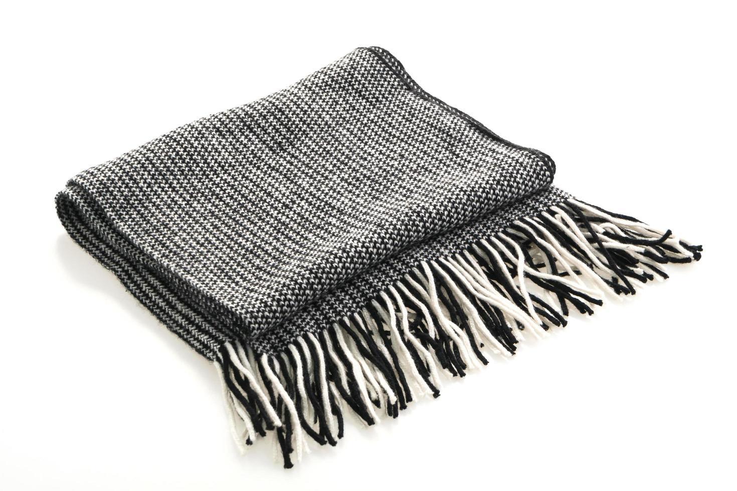 grå halsduk på vit bakgrund foto