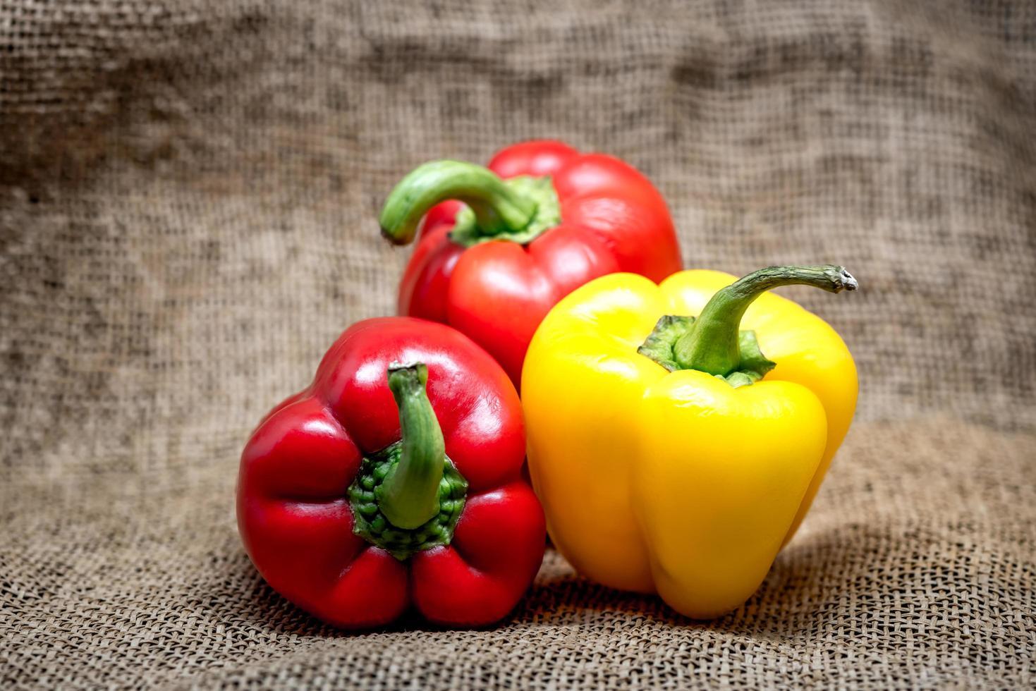 olika färgade paprika foto