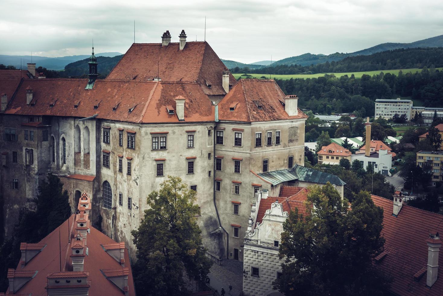 södra Böhmen, Tjeckien 2018 - berömda slottet Cesky Krumlov foto