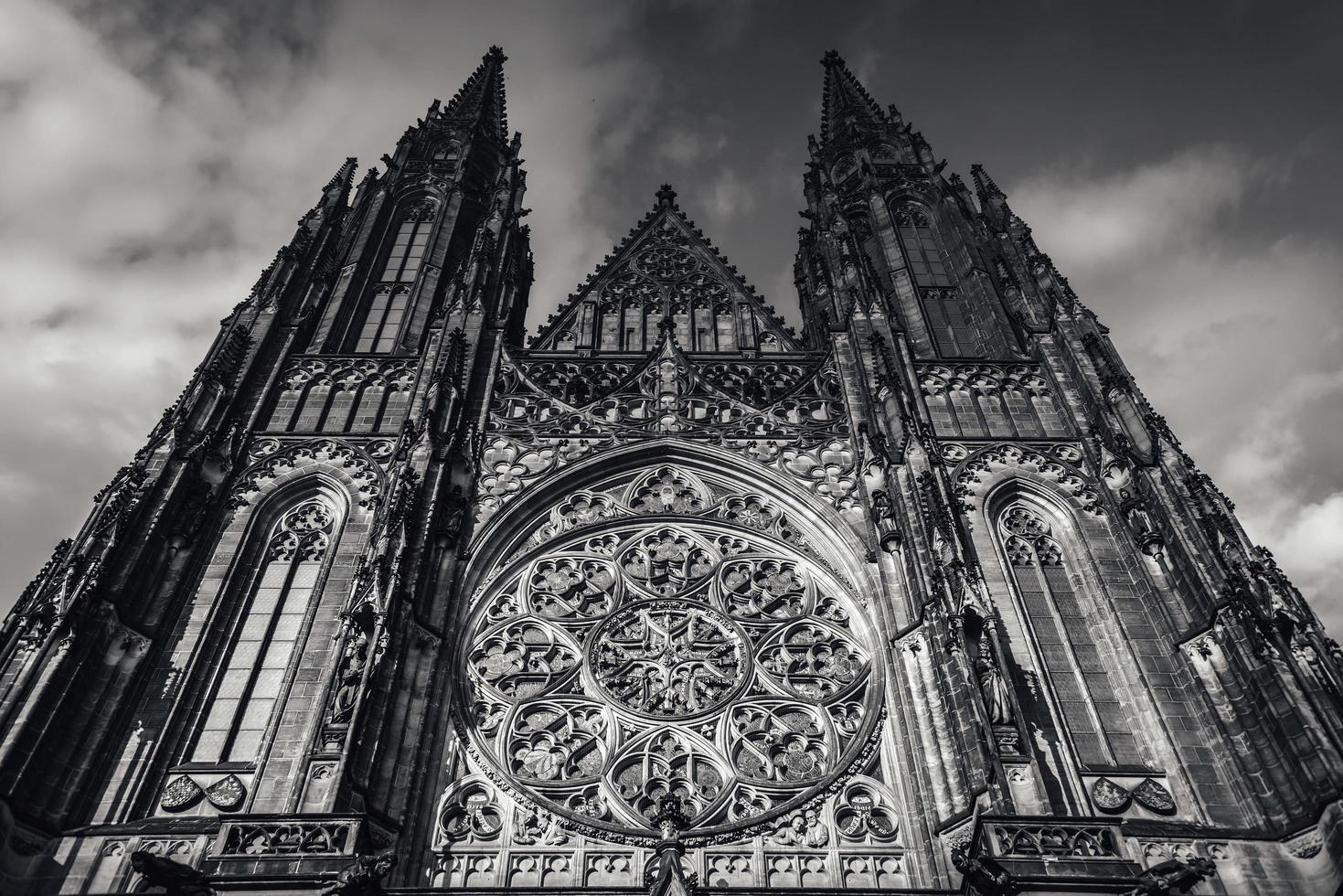 Tjeckien 2017 - Saint Vitus katedralfasad vid slottet i Prag foto