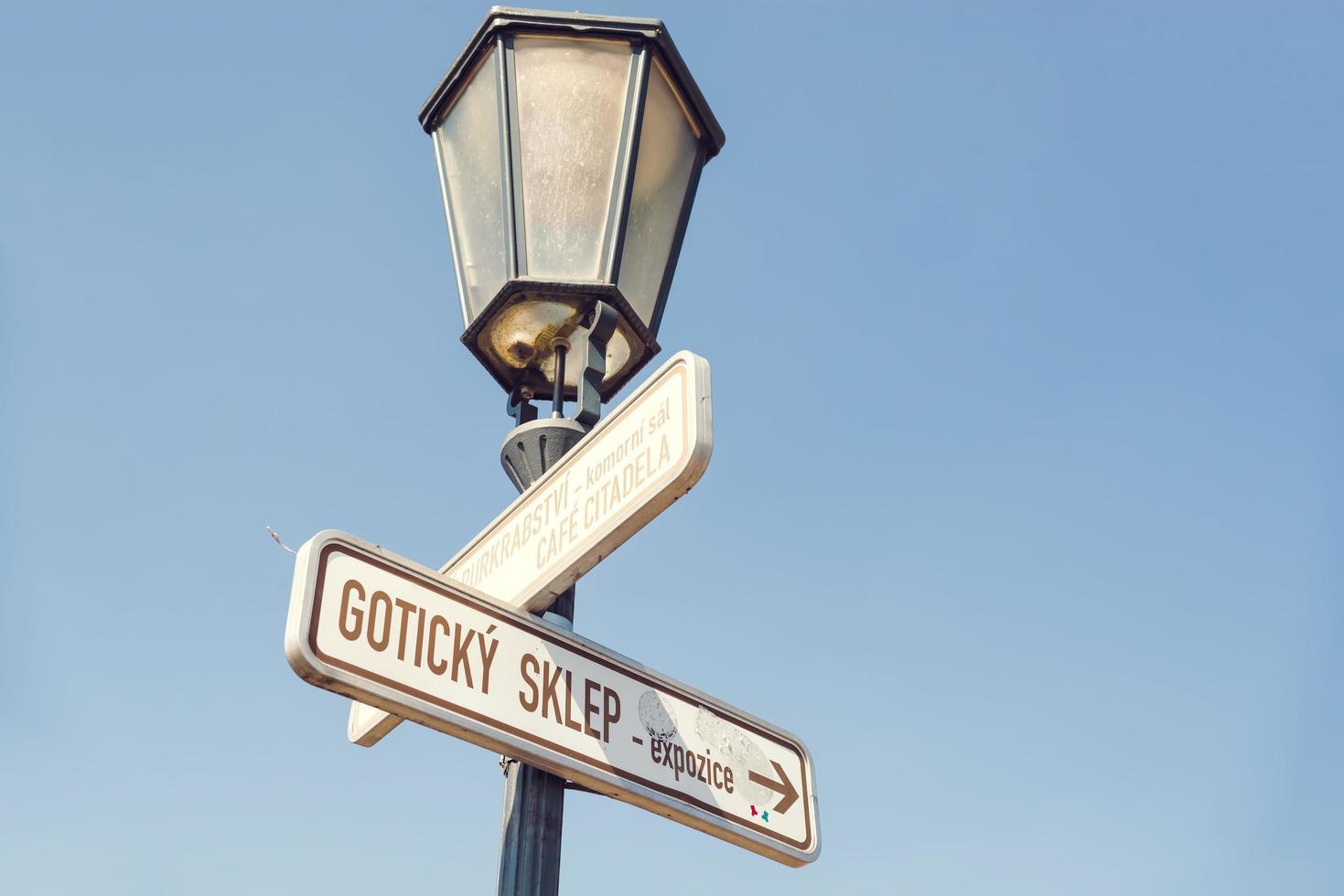 vägskyltar för turistattraktioner foto