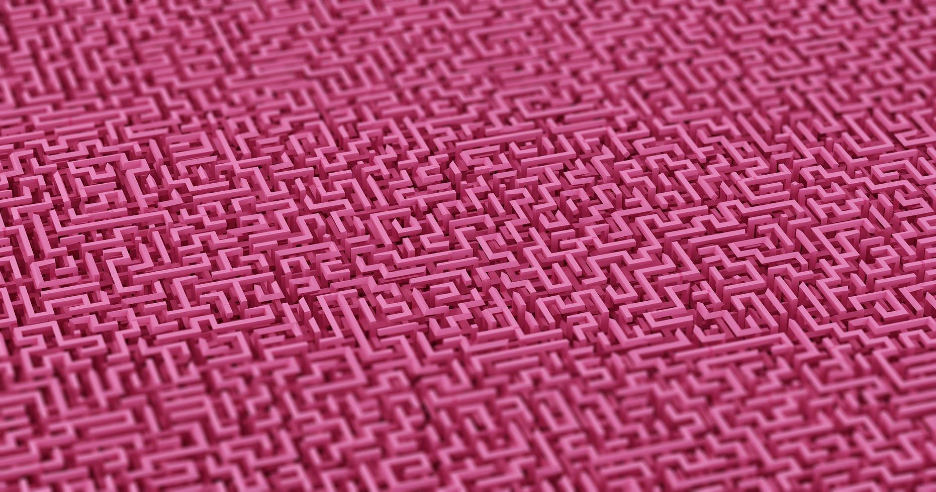 Illustration 3d av en rosa labyrintbakgrund foto