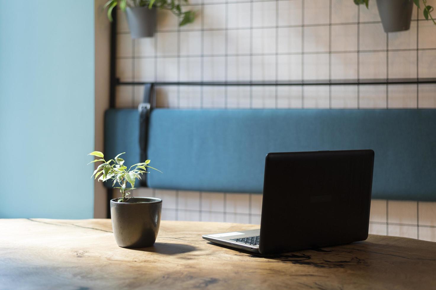 bärbar dator och anläggning foto