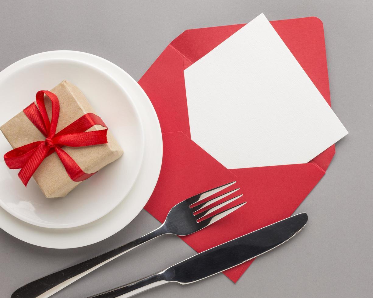 Alla hjärtans dag måltid koncept foto