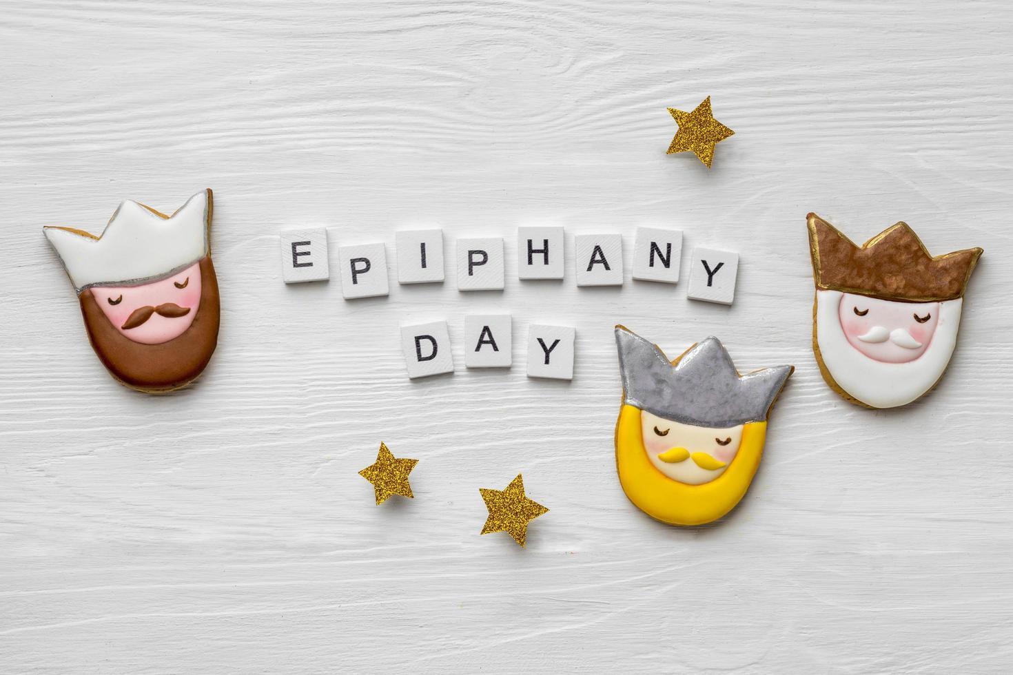 epiphany day brev och kakor foto