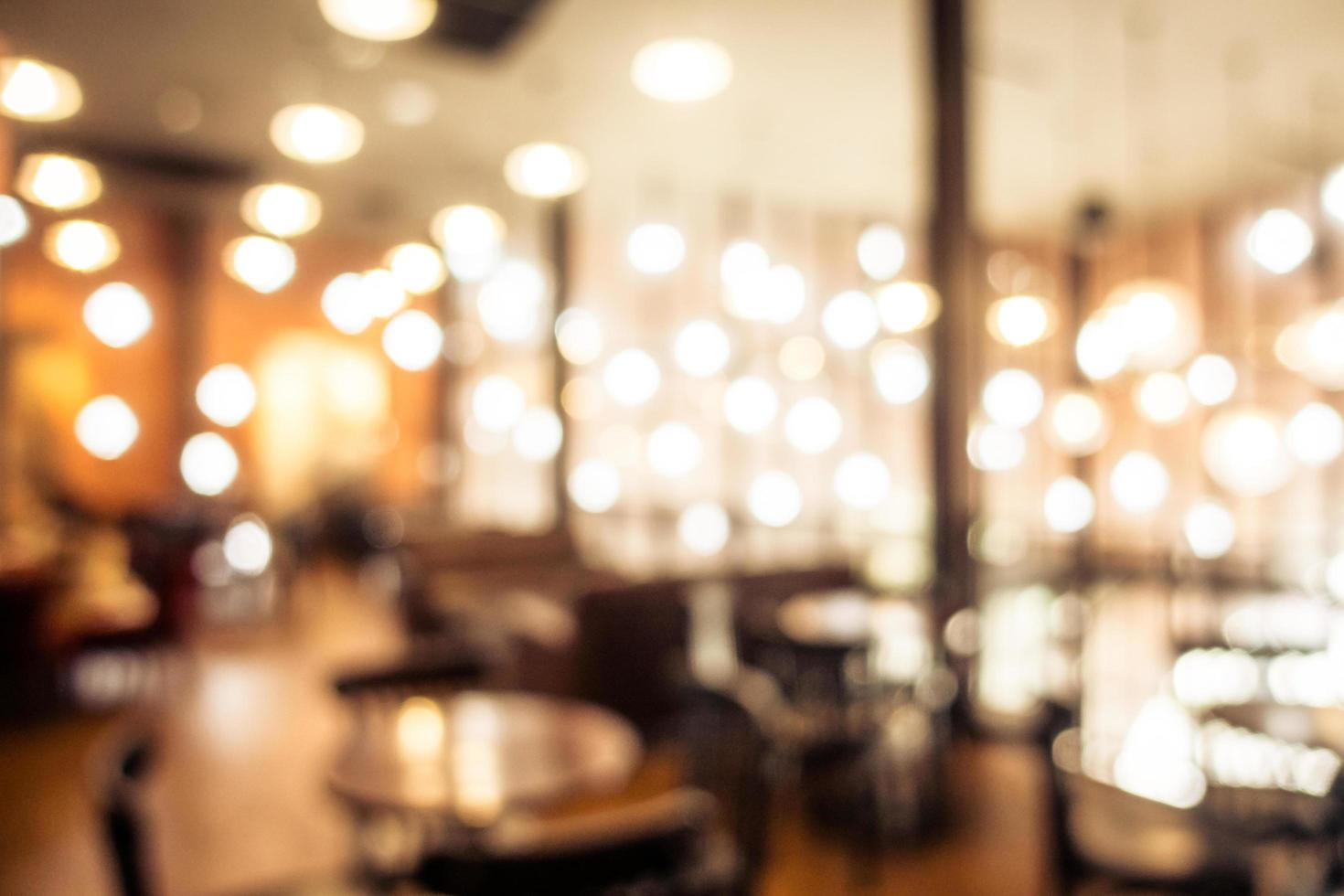 defokuserad kafé och restaurangbakgrund foto