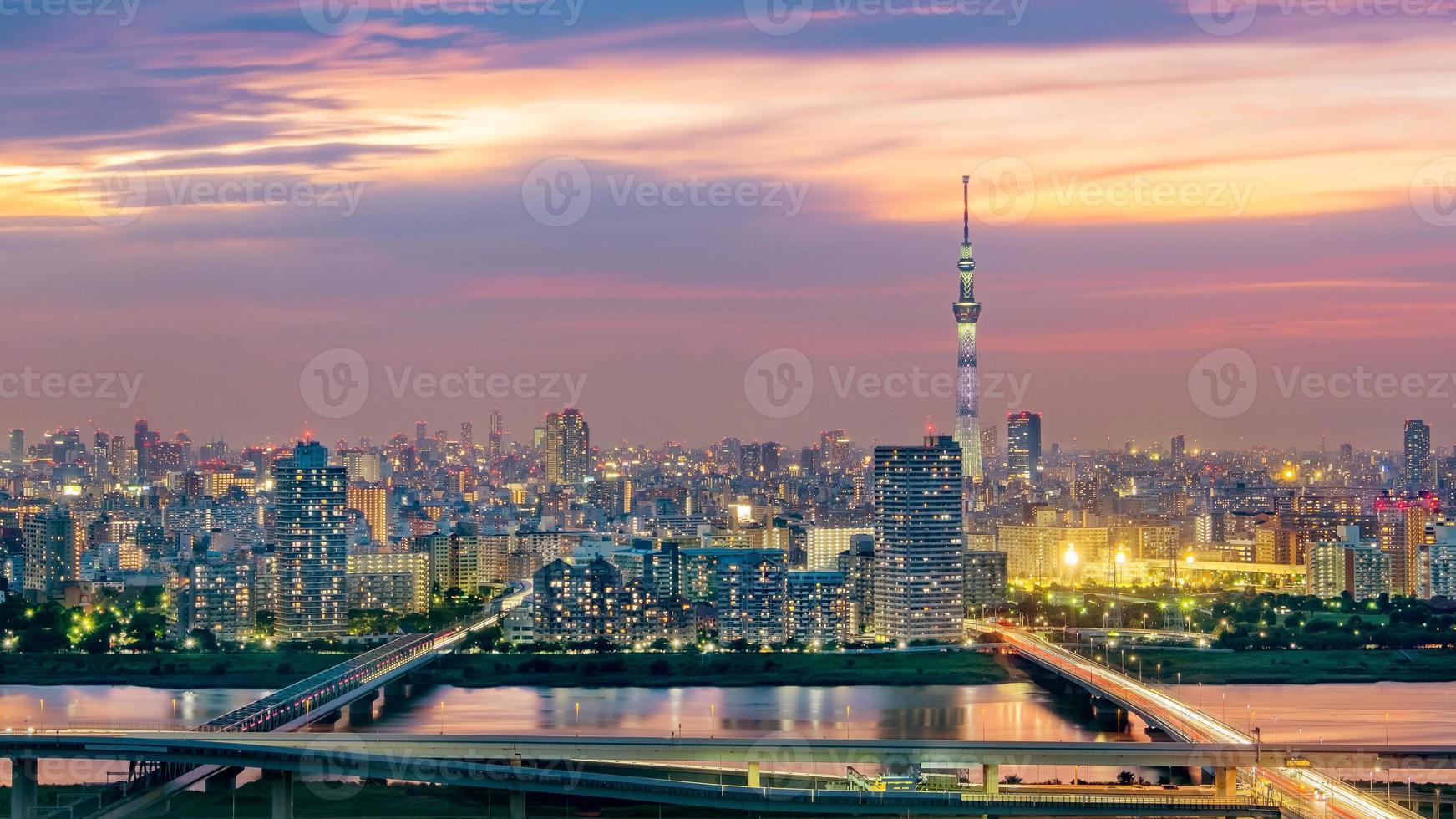 stadsbilden i tokyo, japan foto