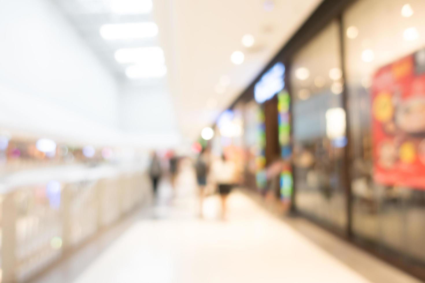 abstrakt defocused köpcentruminre för bakgrund foto