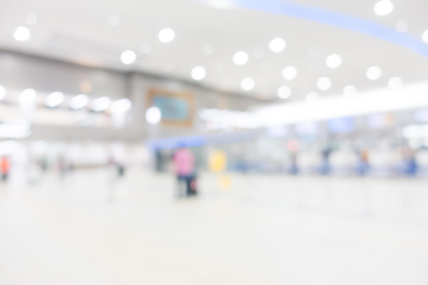 abstrakt defocused flygplatsinredning för bakgrund foto