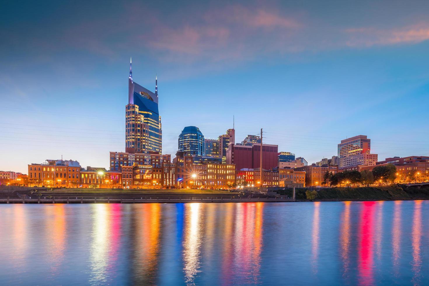 nashville city downtown skyline usa foto