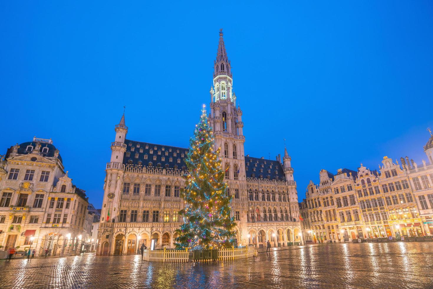 den stora platsen i gamla stan Bryssel, Belgien foto