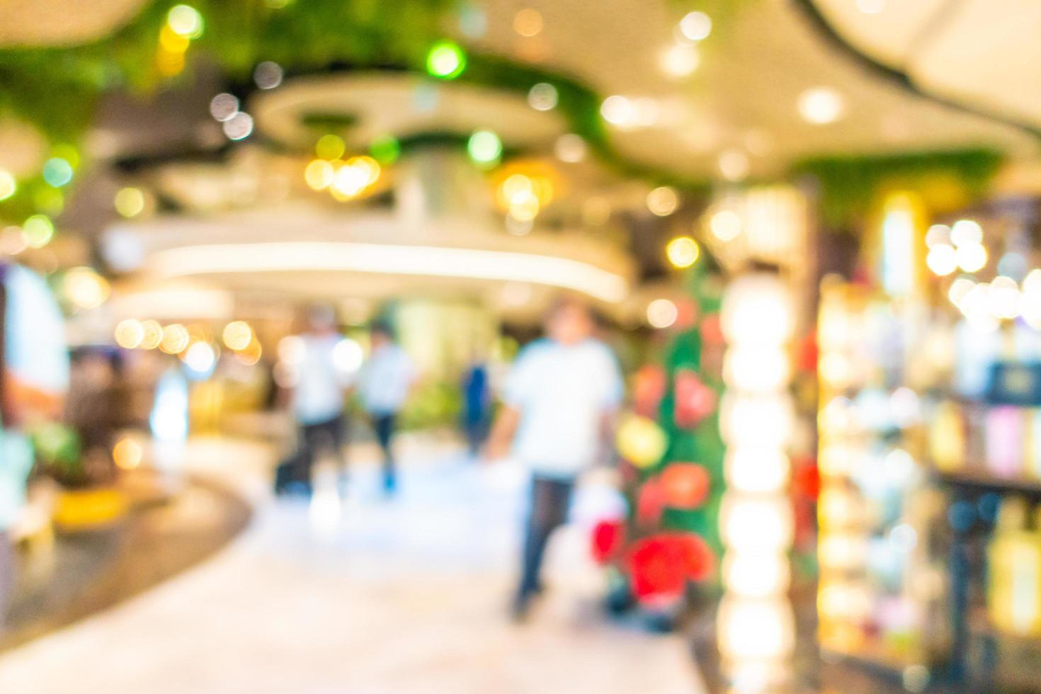 abstrakt oskärpa och defokusera vacker lyxig shoppinggalleriainredning foto