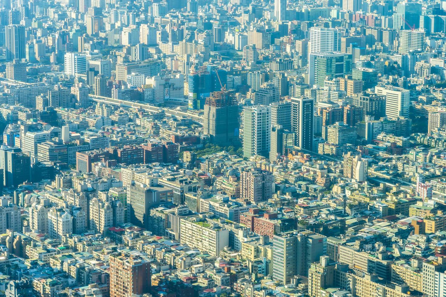 utsikt över Taipei stad i Taiwan foto