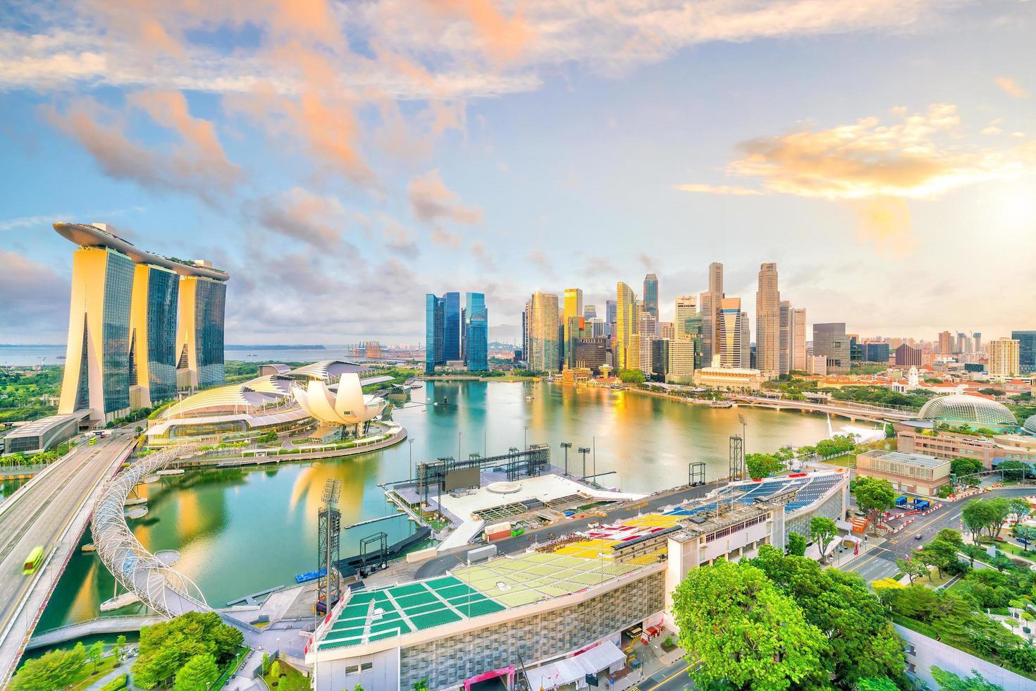 singapore centrum skyline bay area foto
