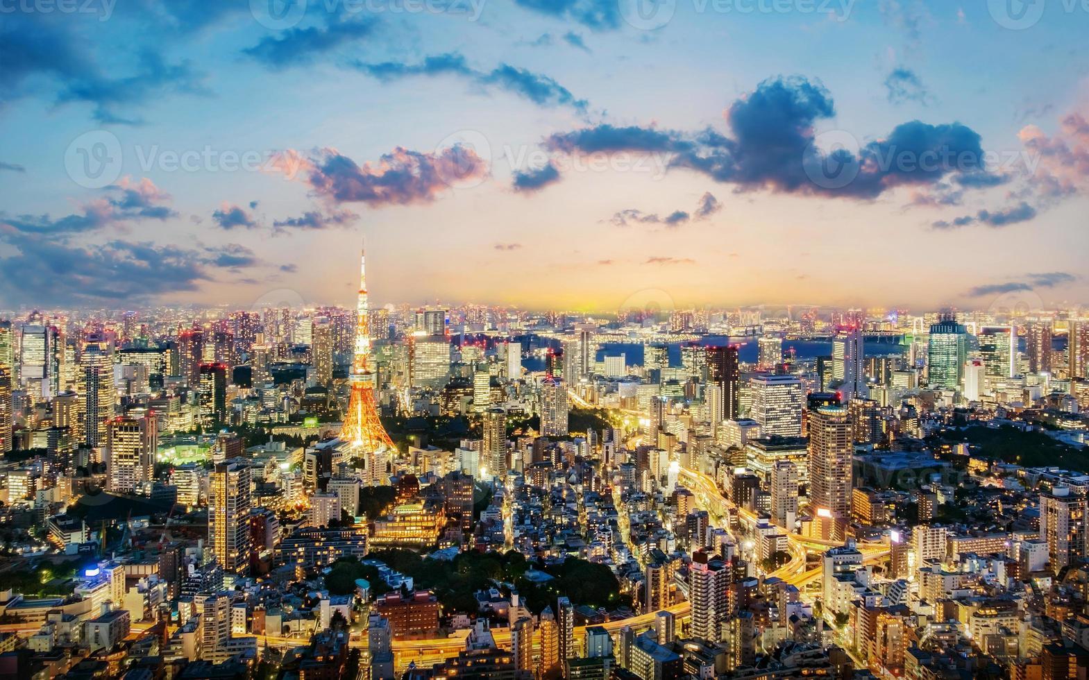 stadsbilden i tokyo foto
