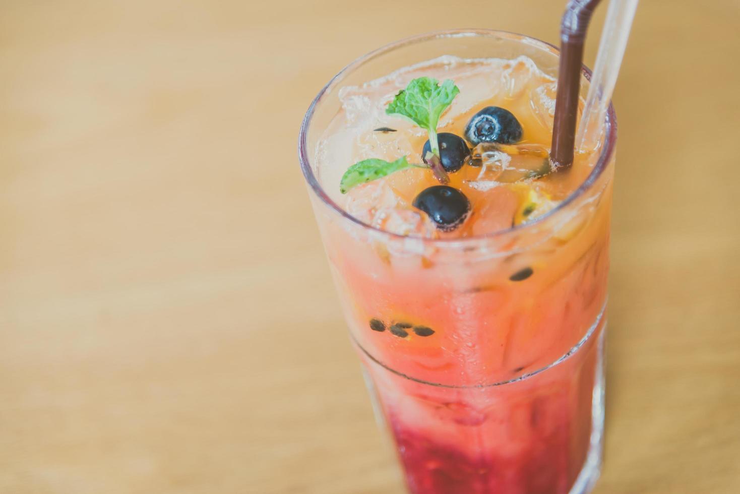 blanda frukt moctails drink foto