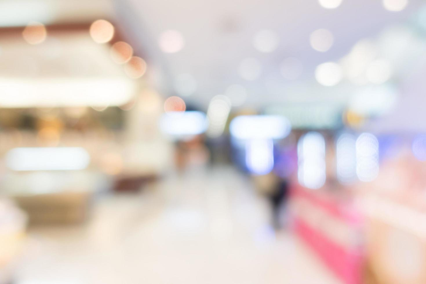 abstrakt oskärpa köpcentrum för bakgrund foto