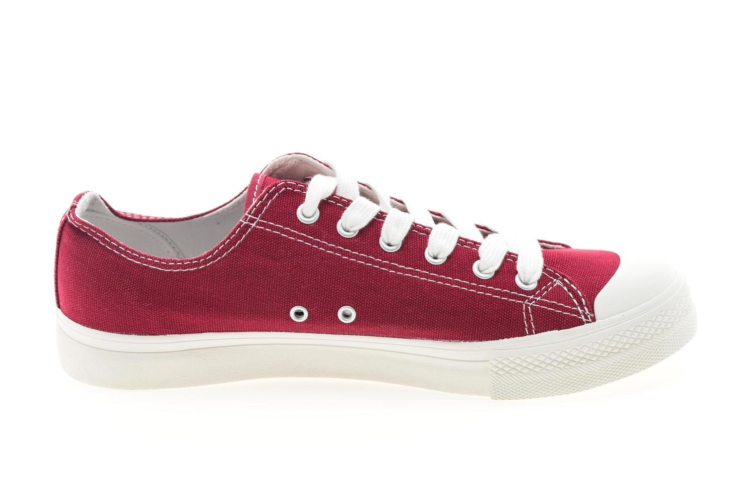 röd sko på vit bakgrund foto