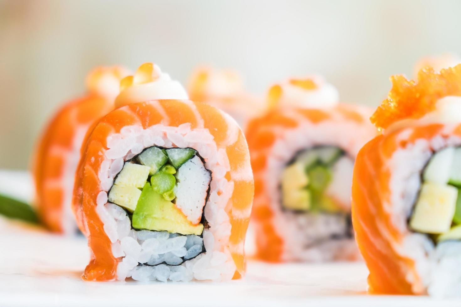 sushi laxrulle foto