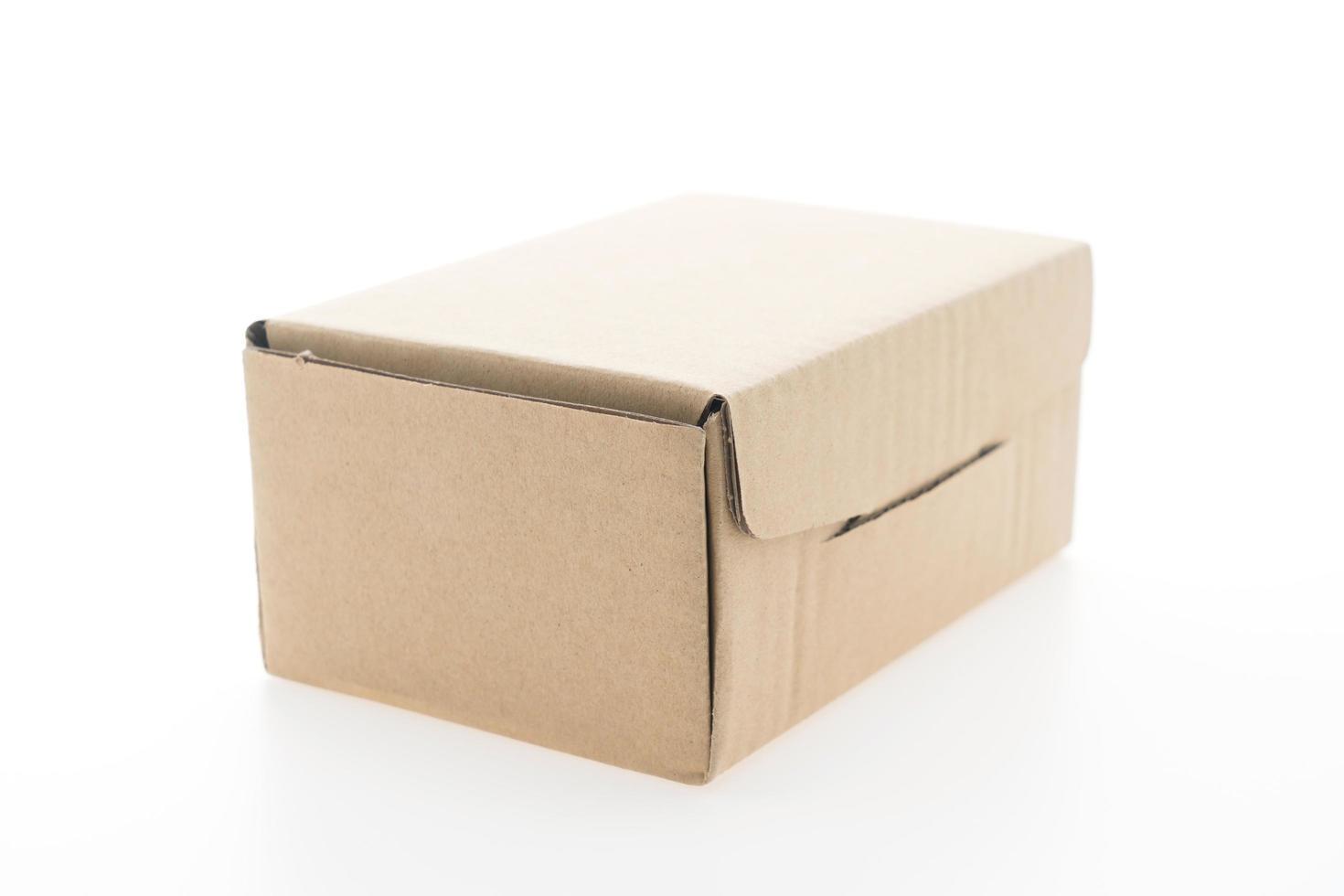 brun låda håna upp foto