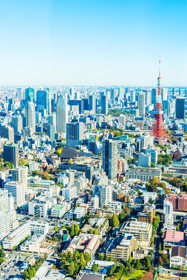Tokyo stadsbild i Japan foto