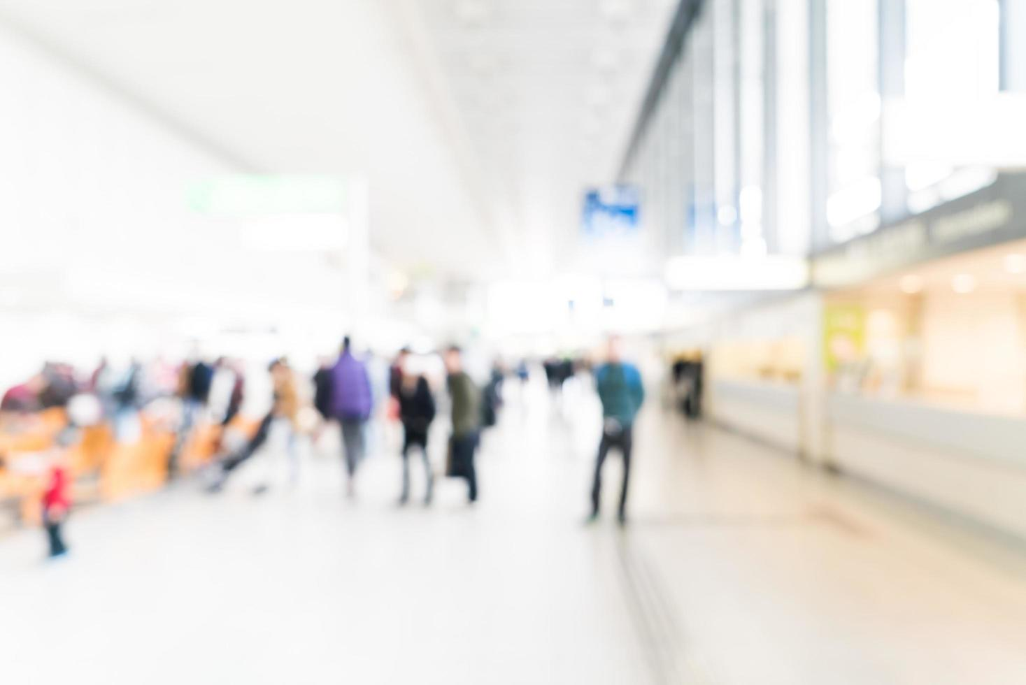 abstrakt suddighet flygplatsinredning foto
