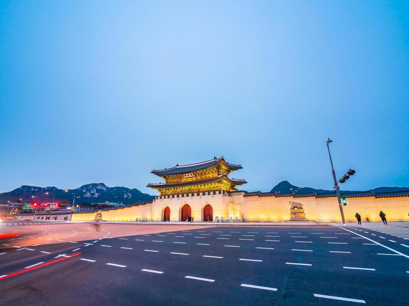 Gyeongbokgung palats, Seoul stad i Sydkorea foto