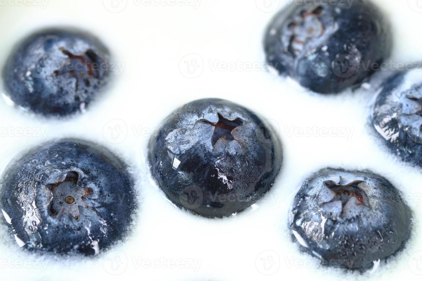blåbär i färsk yoghurt foto