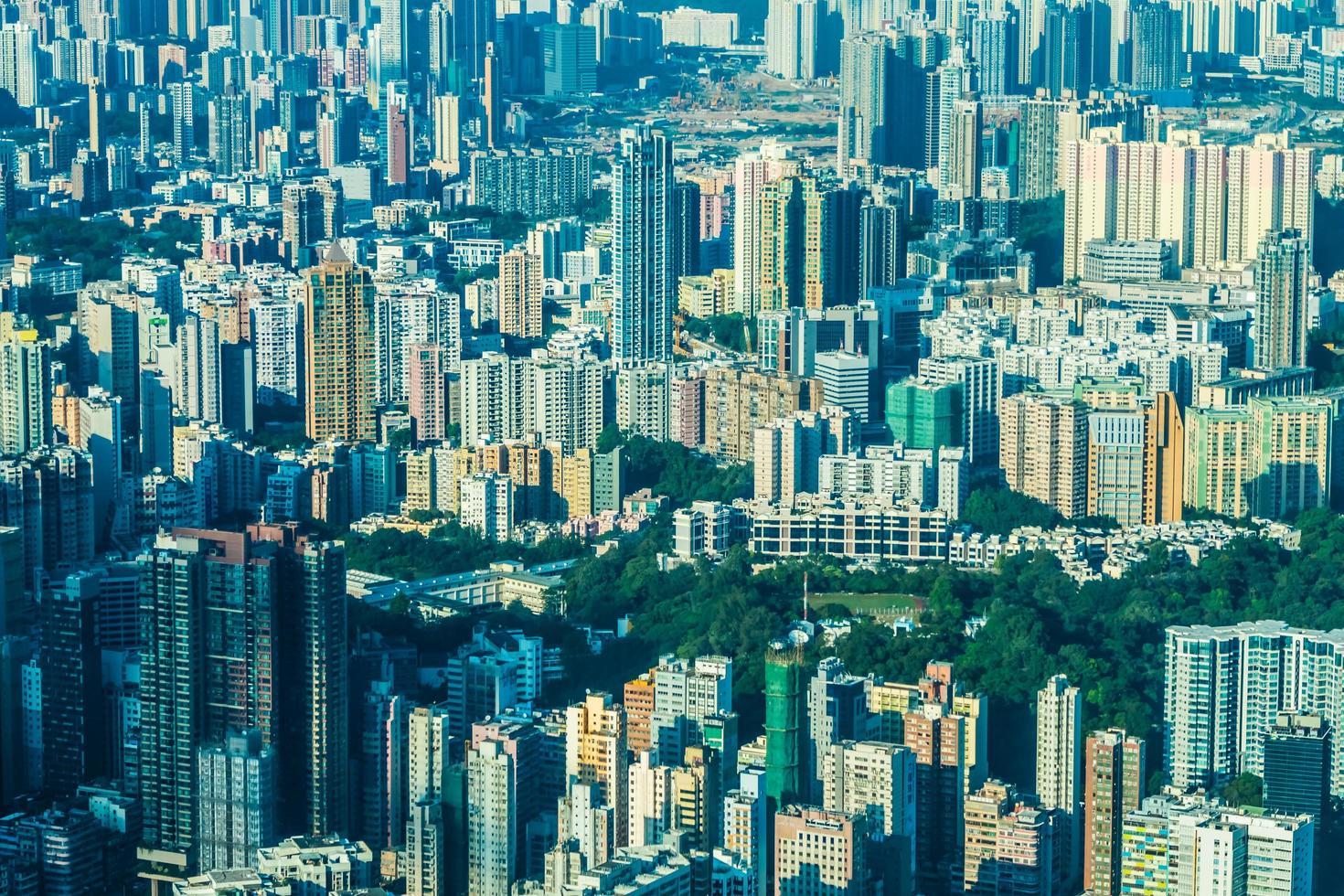 byggnader i Hong Kong, Kina foto